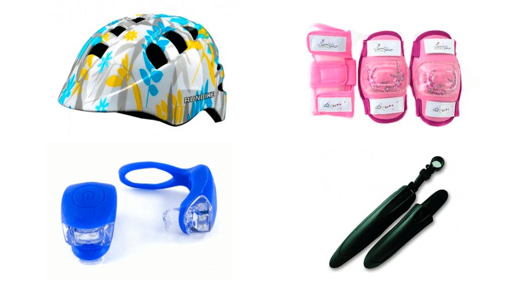Runbike Аксессуары (шлемы, перчатки, надувные колеса, удлиненное седло и проч)